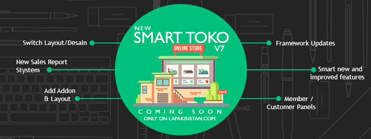 Segera Rilis Theme Smart Toko v7