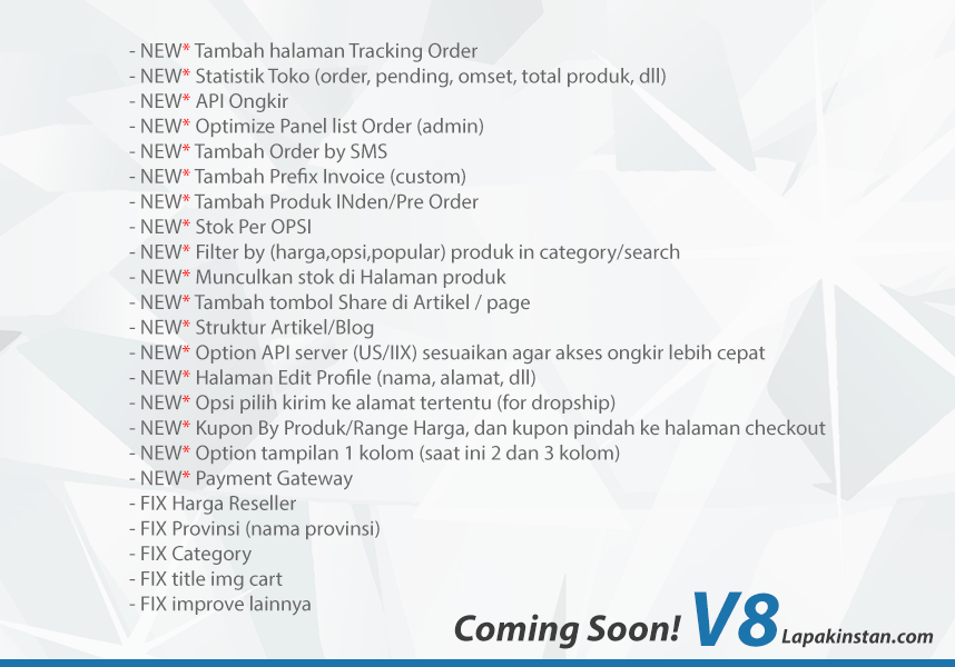 [Coming Soon] New Update Smart Toko v8