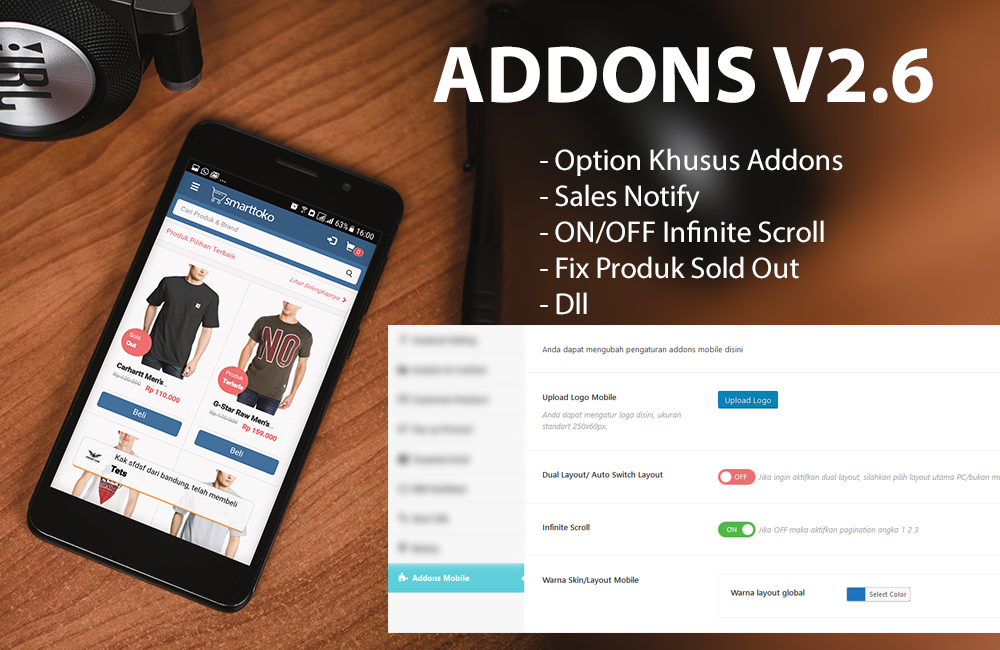 Update Addons MOBILE v2.6